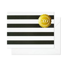 Super trendy love it!! Black & White stripes are so in style right now. Love the tough of the XO sticker.