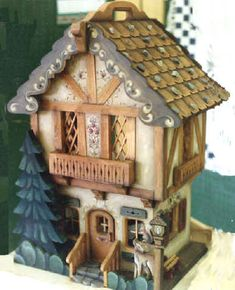ideas for woodworking patterns tole painting Woodworking Furniture Plans, Woodworking Patterns, Woodworking Tips, Woodworking Workshop, Christmas Gingerbread House, Christmas Crafts, Gingerbread Houses, Xmas, Ginger House