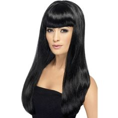 Looking for Babelicious Wig,Black? Get it from our wholesale Ladies Glamour Wigs range today. Visits Smiffy's wholesale for all your Wigs needs today. Glamour, Celebrity Fancy Dress, Pelo Multicolor, Straight Fringes, Fancy Dress Wigs, Halloween Wigs, Adult Halloween, Black Wig, Long Black