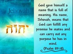 Jehovah is the true God of the Bible, the Creator of all things. [Learn more at JW. Jw Bible, Bible Truth, Spiritual Needs, Spiritual Thoughts, Jehovah Names, Psalm 83, Words Containing, Bible Translations, Bible Verses Quotes