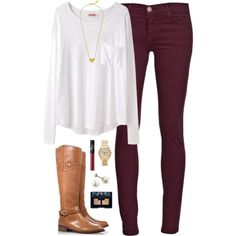 A fashion look from November 2014 featuring modal shirts, super skinny ankle jeans and zipper boots. Browse and shop related looks.