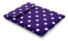 Ipad Cover - Purple Polka Dots