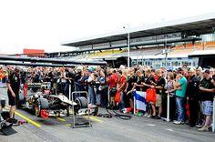 Fans. Formula One World Championship, Rd10, German Grand Prix, Preparations, Hockenheim, Germany, Thursday, 19 July 2012  © Sutton Images