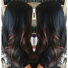 Ombre for dark hair // highlights for black hair http://short-haircutstyles.com/category/popular-in-2016/perms