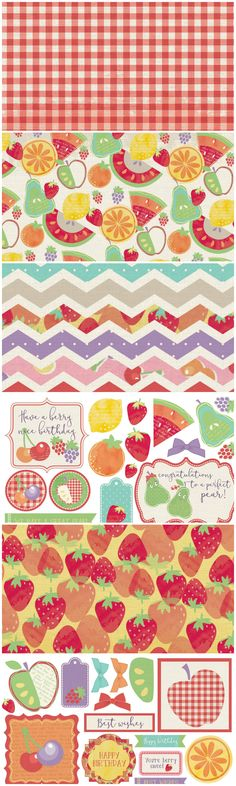 Free Printable Fruit Salad Digital Kit from Papercraft Inspirations Magazine Free Digital Scrapbooking, Digital Scrapbook Paper, Digital Paper Free, Printable Scrapbook Paper, Printable Paper, Free Paper, Printable Designs, Free Printables, Planners
