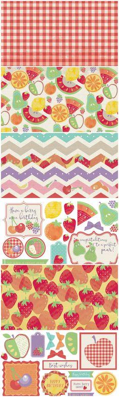 Free Printable Fruit Salad Digital Kit from Papercraft Inspirations Magazine