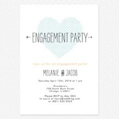 Heart to Heart Engagement Party Invitations