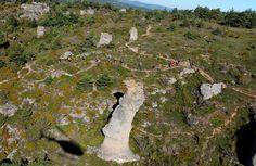 Le Causse Noir, des paysages très sauvages où se déroule le Grand Trail des Templiers - Millau - France