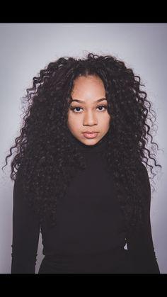 Freetress deep twist crochet hair - June 08 2019 at Curly Crochet Hair Styles, Crochet Braids Hairstyles, African Braids Hairstyles, Weave Hairstyles, Curly Hair Styles, Natural Hair Styles, Crochet Braid Styles, Fancy Hairstyles, Everyday Hairstyles