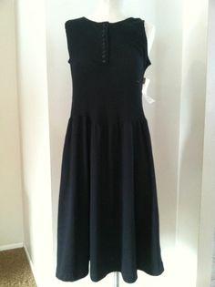 Vintage Black T-Shirt Dress Featuring Drop Waist Styling