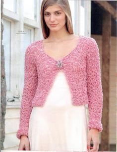 Tejidos realizados con amor para ti ...: Chaleco rosa.