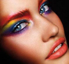 sombra shadow make up maquillaje eyes ojos Pretty Eye Makeup For Blue Eyes, Cute Eye Makeup, Dramatic Makeup, Makeup Looks, Dramatic Eyes, 70s Disco Makeup, 70s Makeup, Makeup Art, Makeup Ideas