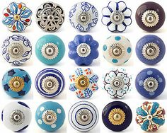 Blue purple ceramic knobs...