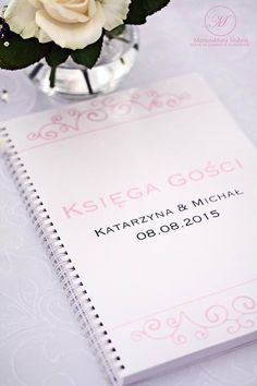 #wedding #day #paper #decorations #elegant #style #white #pink #stationery #bride #groom #guests #book #wesele #ślub #elegancki #styl #biel #róż #papeteria #pannamłoda #panmłody #ksiega #gości