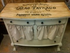 Repurposed #furniture. Love how this dresser turned out.  Love the curtains. #DIY #paint