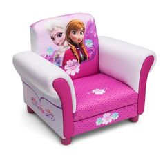Disney Frozen Upholstered Chair  A cool chair fit for a (snow) queen, this Frozen Upholstered Chair from Delta Children will cast a stylish spell on your girl's room. Featuring colorful graphics of Anna and Elsa, this comfy chair boasts a sturdy hardwood frame and plush seat, making it the perfect place for any Frozen fan.