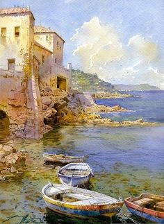 Watercolor by Faustino Martin Gonzalez                                                                                                                                                      More