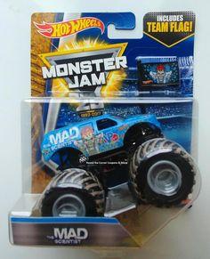 2017 Hot Wheels Monster Jam #6/7 The Mad Scientist Mud 1:64 Truck w/ Team Flag  #HotWheels #67TheMadScientist