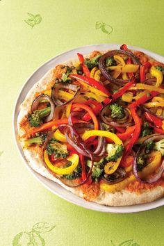 Vegetarian dairy-free pizza :)