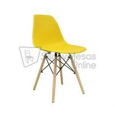 Silla Eames réplica, ahora también en color amarillo...  #sillas #eames #mobiliario #hosteleria