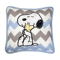 Lambs & Ivy Peanuts My Little Snoopy Pillow, Multicolor