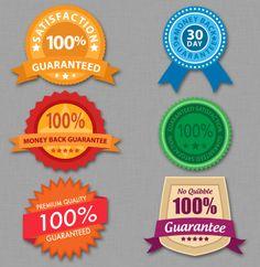 Guarantee Badge Graphics Pack #1