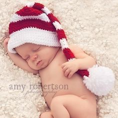Newborn Christmas hat