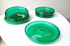 Seks skåler/asjetter Grønland, A J Jutrem. 18,5 cm i diam, 2,5 cm høye. Hver veier de ca 600 gram. Kr. 1350,- Glass, Crafts, Design, Style, Swag, Manualidades, Drinkware, Corning Glass