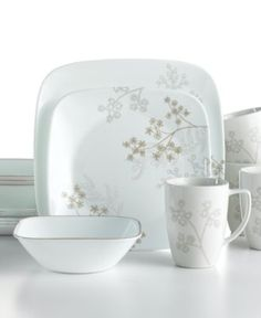 Corelle Dinnerware Shadow Dance:  one 16 piece set  Bed, Bath, Beyond, Corning Factory Outlet