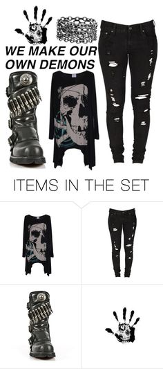 """""""our demons"""" by jeff-the-killer-cp ❤ liked on Polyvore featuring art"""