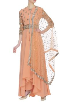 Shop Neeta Lulla Embroidered kurta with pants and dupatta , Exclusive Indian Designer Latest Collections Available at Aza Fashions Kurta With Pants, Neeta Lulla, Designer Dresses, High Low, Cold Shoulder Dress, Indian, Stuff To Buy, Shopping, Collection