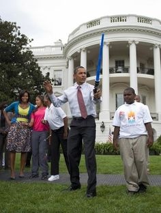 President with a light saber = best president ever.