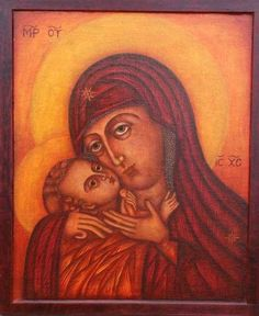 Theotokos - this one almost appears Coptic.