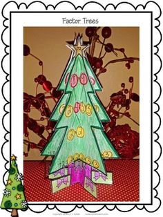 FACTOR TREES - A math craftivity perfect for December - prime factorization $
