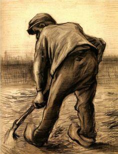 Digger in a Potato Field: February - Vincent van Gogh