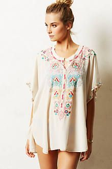 silk kimono cover up, pair with distressed denim and gladiator sandals.