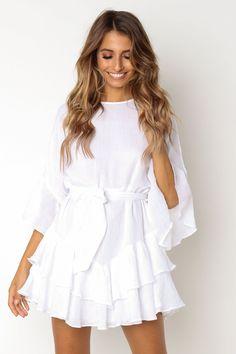 Gossip Dress - White