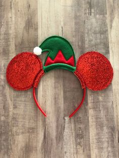 Excited to share this item from my #etsy shop: Very merry christmas disney ears, christmas elf ears, elf hat christmas ears