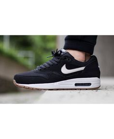 5c96d3bbe9f (ZQ31U) Nike Air Max 1 Essential Black Light Bone White Trainer UK Nike Free