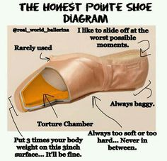 Dance problems- pointe shoes honest descriptions
