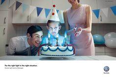 Volkswagen Wrong Lights Birthday Cake Ad