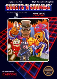 I made a Mario Ghosts 'N Goombas NES cover (for us old people)