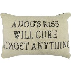 Park B. Smith  A Dogs Kiss Feather Tapestry Decorative Pillow (2,360 PHP) ❤ liked on Polyvore featuring home, home decor, throw pillows, dog throw pillow, plush throw pillows, feather throw pillows, tapestry throw pillows and dog home decor