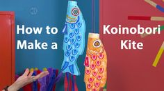 Candie Cooper demonstrates how to create a Japanese koinobori carp kite using paper, Cray-Pas oil pastels, twine, and Pentouch metallic paint markers. Find the koi/carp template at http://www.craftsforkids.com/projects/1800/1806/Hands_On_Crafts_For_Kids_1806-2.htm