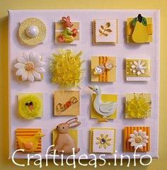 Yellow easter/spring themed inchies
