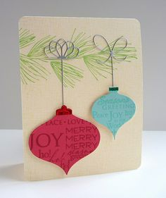 Hanging stamped-on ornaments