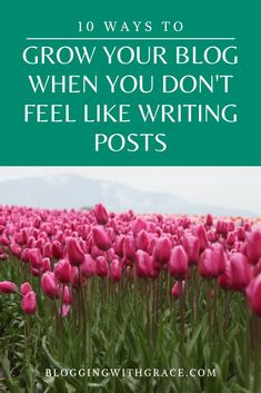 10 Ways to Grow Your Blog When You Don��t Feel Like Writing Posts.