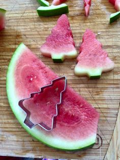 Festive Watermelon 'Christmas Trees' More