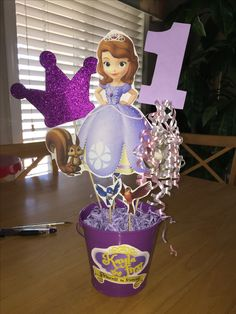 Sofia the first simple centerpiece