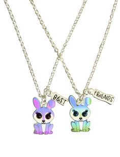 BFF Ombre Bunny Necklaces | Animal Shop | Jewelry By Trend | Shop Justice